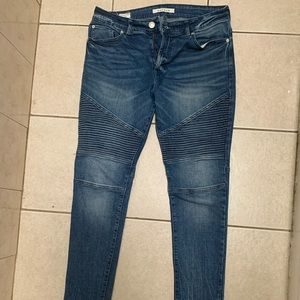 Pacsun Skinny Stacked Biker Jeans (31 X32)